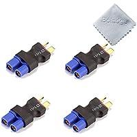Boladge 4pcs EC3 Conector Hembra Plug to Deans Estilo T-Plug Adaptador Macho para Batería Lipo