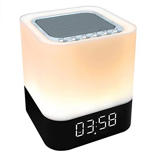 StillCool Bluetooth Lautsprecher Wecker 5 in 1 LED Touch Dimmbar Wecker Digital MP3-Player, Lautsprecher, mit SD Karte, USB und Bluetooth