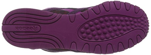 Reebok Classic Leather Nylon Slim Geo, Baskets Basses Femme Violet (rylorchid/frcfuchsia/nghtvlt/rbrry/bnpnk/wht)