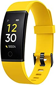 Realme Band (Yellow) - Full Colour Screen with Touchkey, Real-time Heart Rate Monitor, in-Built USB Charging,