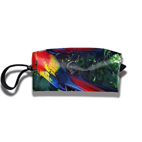 Scarlet Macaw Stationery Receive Bag/Fashion Zipper Bag Scarlet Zip