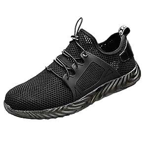 MonLook Sicherheitsschuhe Arbeitsschuhe Herren,M/änner unzerst/örbare Schuhe Ryder Steel Toe Boot Sicherheit Military Work Sneakers