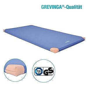 Grevinga® Turnmatte mit Lederecken 100 x 200 x 6 cm