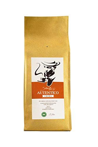 SANTANA AUTÈNTICO | Premium Kaffee Crema 1 Kg Ganze Bohne Röstkaffee | Fairtrade 100% Arabica Kaffeebohnen direkt aus dem Hochland der Dominikanischen Republik | Weich und bekömmlich | Perfekt als Filterkaffee oder für Kaffeevollautomaten