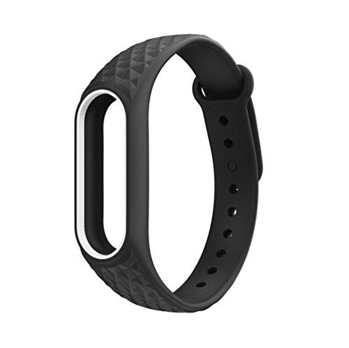 TPulling Millet 2 Diamant-Blumenband Lederband Neuer Mode Leichte Silikon Handschlaufe Armband Ersatz Für XIAOMI MI Band 2 (C)