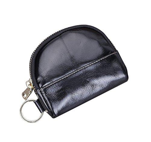 Genda 2Archer Unisex Pelle Porta monete zip Key Card Borsellino del denaro (Giallo) Nero