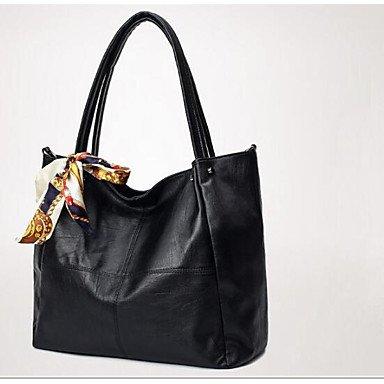 SUNNY KEY-Borsa a tracolla @ Donna Borsa a tracolla PU (Poliuretano) Per tutte le stagioni Casual Rotondi Cerniera Nero , black black