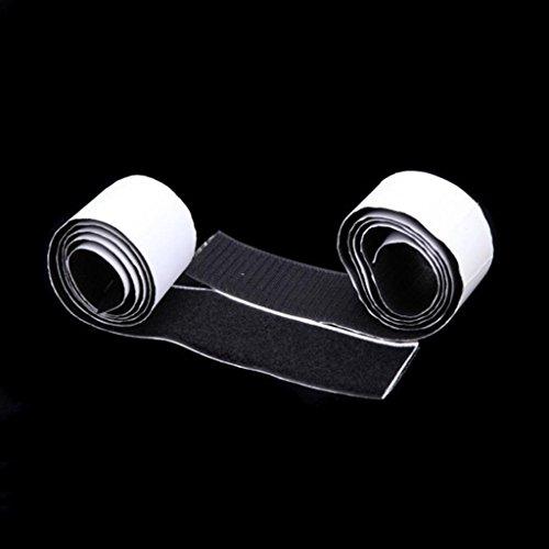 perfk 2Pcs Klettband selbstklebend Klettverschluss mit 1 Meter Länge und 5cm Breite für alle Nähen Bedarf -