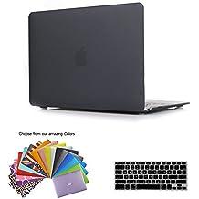 MacBook 12 Retina Case Cubierta, TECOOL [Ultra Slim Series] Plástico Hard Shell Funda con Tapa del Teclado para MacBook 12 Pulgada con Retina Display Modelo: A1534 - Negro