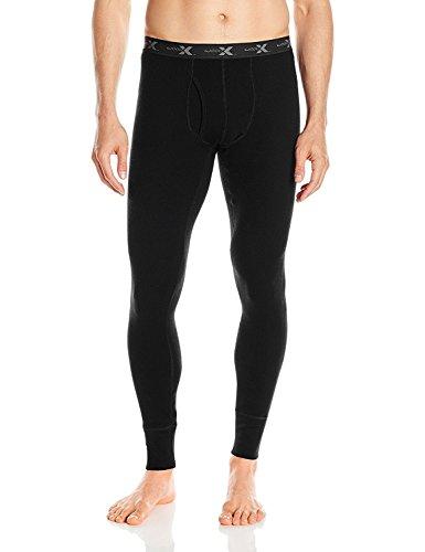 WoolX Herren Merinowolle Unterhose - schwer, extrem warm, Herren, Heavyweight Base Layer Bottoms, schwarz, X-Large -