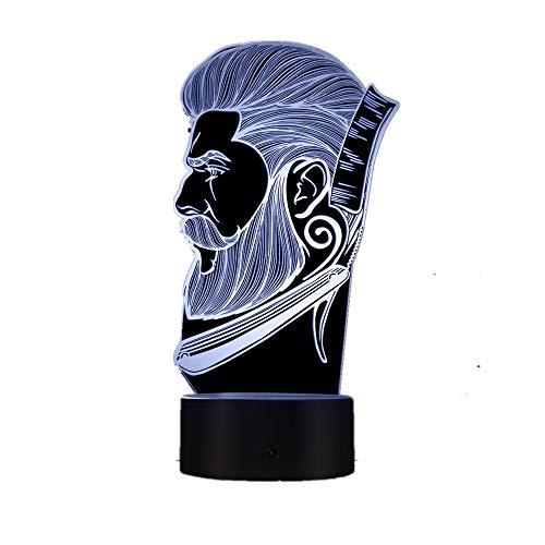 Friseursalon Nachtlicht Schönheitssalon Friseursalon Logo kreative Nachtlicht Illusion Tischlampe Tropfboot -