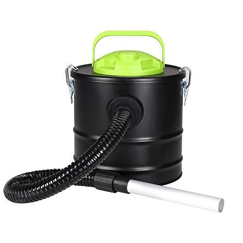 Bakaji aspirador profesional Potencia 500W Aspiradora aspira cenizas con función sopladora Filtro Interno Hepa y tubo Campana flexible Capacidad Depósito 10Lt para limpieza chimenea Chimenea estufa de pellets y a leña