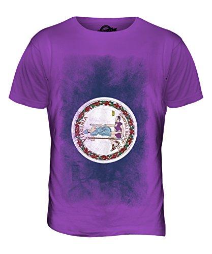 CandyMix Bundesstaat Virginia Verblichen Flagge Herren T Shirt Violett
