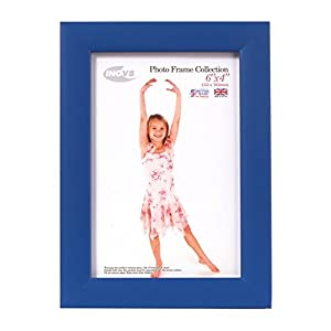 Inov8 British Made Traditional Picture/Photo Frame, Royal Blue, 6x4 Inch