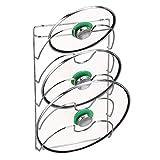 mDesign porta coperchi verticale – Pratici accessori cucina per coperchi di varie misure – Utensili da cucina salvaspazio – Metallo cromato