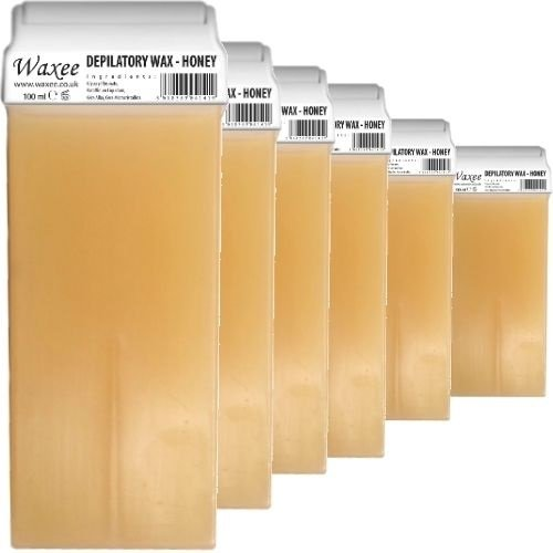 roll-on-wax-cartridge-100ml-roller-natural-honey-waxee-6-x-100ml-roll-on-wax-cartridge