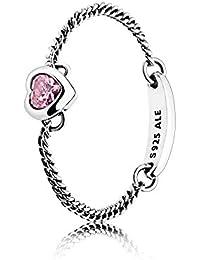 2c3d6a9e0 Pandora Women Silver Solitaire Promise Ring - 197191PCZ-58