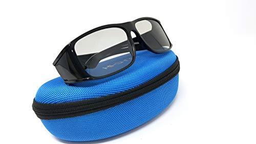 Hi-SHOCK® passive 3D-Brille für 4K 3D TV \'s von LG® Philips®, Grundig®, Löwe®, Sony®, Panasonic®, Toshiba® | kompatibel mit AG-F420 / PTA417 / ZCW000 / ART 32 / TDG500P / TY-EP3D20E / PX1821E-1TVA | inkl. Case + 3 Jahre Garantie [ Polarisations-3D-Technologie | Schwarz ]