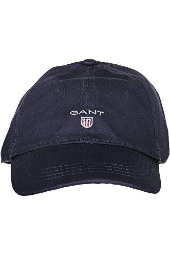 GANT Herren Baseball Cap GANT TWILL CAP, Einfarbig, Gr. One size (Herstellergröße: ONE), Blau (NAVY)