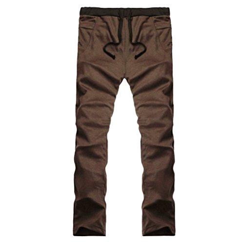 Cargo Plus Größe Shorts (Hosen Herren, Sunday 2018 Frühling Sommer Herbst Winter Mens Jogger Trainingsanzug Running Sport Hosen Jogginghose Hosen Plus Größe (Braun, L))