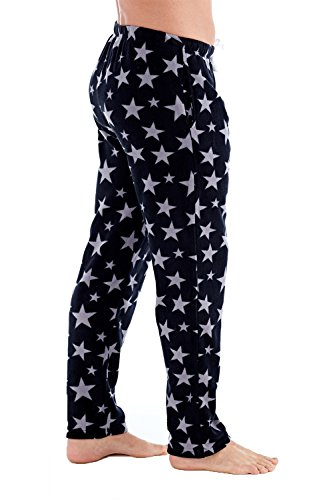 Harvey James Herren Schlafanzughose Star Print - Black