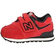 New Balance IV574 HN Blu Scarpe Bambino Strappo Sneakers Camouflage 24546266424