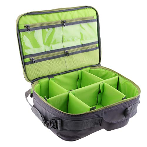 Homyl 6 Fächer Angelrollen Und Ausrüstungsbeutel Verstellbare Tasche Für Rollenkoffer