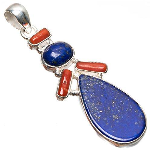 stargems-tm-lapis-lazuli-naturelles-et-corail-rouge-boho-style-argent-sterling-925-pendentif-2-1-51-