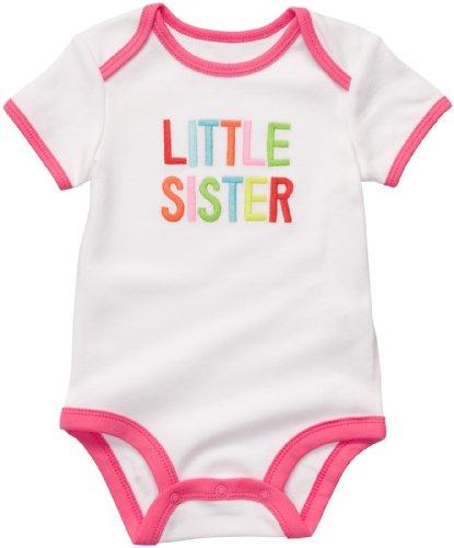 Carter's Body Gr. 80/86 Spruch little sister US SIZE 24 month girl onesie weiss Mädchen Unterwäsche Baby (Carters-bodys Mädchen)