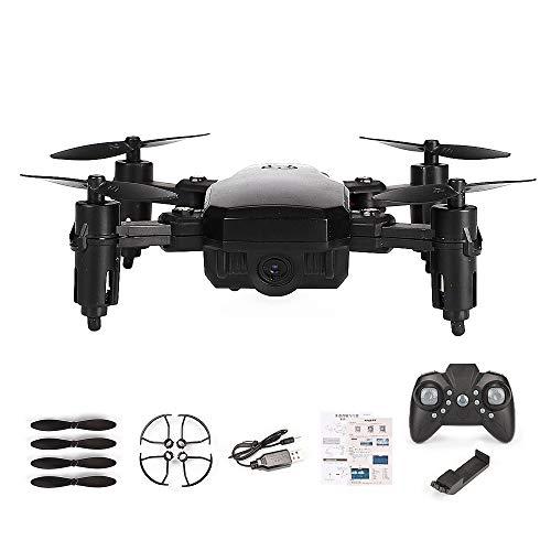 RC Drone, Telecamera HD Grandangolare 720P Video in Diretta Quadricottero RC, Altitude Hold, Funzione Sensore di Gravità, RTF e Facile da Pilotare per Principianti, Compatibile con Cuffie VR,Black