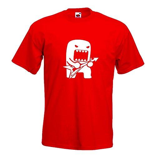 Kiwistar Rock Domo mit Gitarre T-Shirt in 15 verschiedenen Farben Herren Funshirt bedruckt Design Sprüche Spruch Motive Oberteil Baumwolle Print Größe S M L XL XXL Rot
