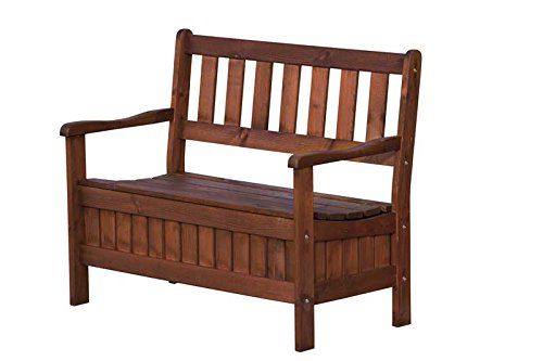 AVANTI TRENDSTORE - Panca per il giardino in legno di abete, ca.107x43/87x58 cm - giardino