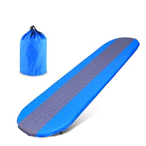 Edited 109T Tragbare aufblasbare Camping Isomatte, Selbstaufblasende Luftmatratze, Ultraleichte Luftbett, für Camping, Outdoor, Reise, Wandern, Strand