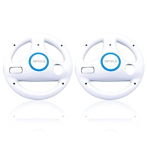 MPTECK @ 2 x Rennlenkrad Lenkung Rad Griff Rennspiel Lenkung antreibendes rad Spiel Zubehör für Nintendo Wii Remote Controller Videospiele Mario