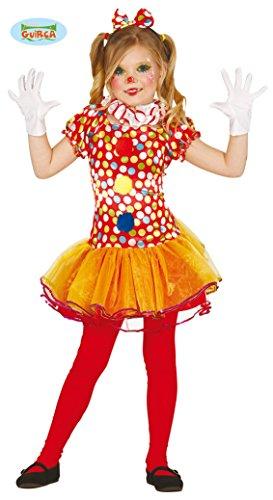 Clown Kostüm für Mädchen Gr. 98 - 146, Größe:110/116