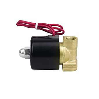 Generic I9-OMC2-8NPA 1/4 Inch Electric Solenoid Valve For Air/Water, AC 220V