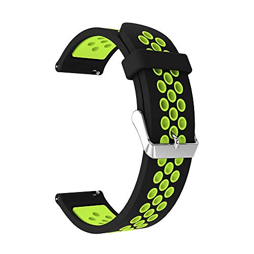 TPulling Samsung Galaxy Watch Uhr Armband Sport Rundloch Zweifarbiges Silikonband Bügel Armband (42mm) (E)