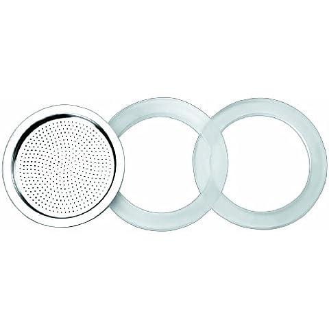 Ibili 620353 - Accesorios para cafetera express 10 tazas Essential - 2 Juntas 100% silicona + 1 Filtro Essential