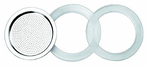 IBILI 620353 Kaffeemaschinenzubehör, 2 Silikon-Dichtungen + 1 Filter + 10 Tassen