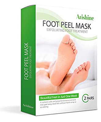 2 Pairs Exfoliating Foot Peel Mask, Soft & Smooth Feet, Peeling Away Rough Dead Skin & Calluses in 1-2 Weeks, Repairing Exfoliant Treatment