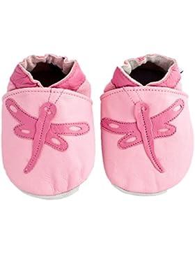 Baby Leder-Schuhe für Mädchen, weich, Design Libelle