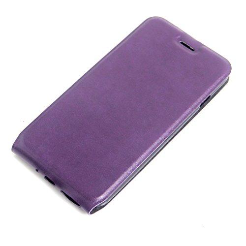 Hülle für iPhone 7 plus , Schutzhülle Für iPhone 7 Plus Vertikale Flip Leder Tasche mit Card Slot & Foto Frame ,hülle für iPhone 7 plus , case for iphone 7 plus ( Color : Pink ) Purple