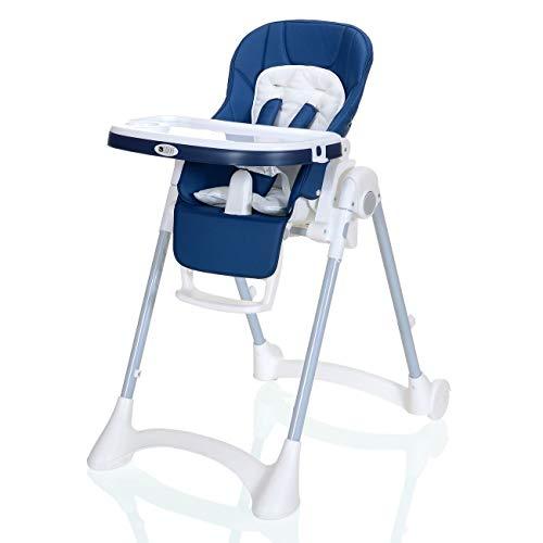 Kinder-Hochstuhl bis 25 kg Kompakt Faltbar LCP Kids Baby Stuhl; Blau