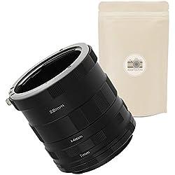AI F Jeu DE 5 BAGUES ALLONGES pour BOITIER Nikon (Monture F) 100% Métal Tubes Macro Macrophotographie Compatible Toutes Montures Nikon F - ADAPTOUT Marque FRANÇAISE