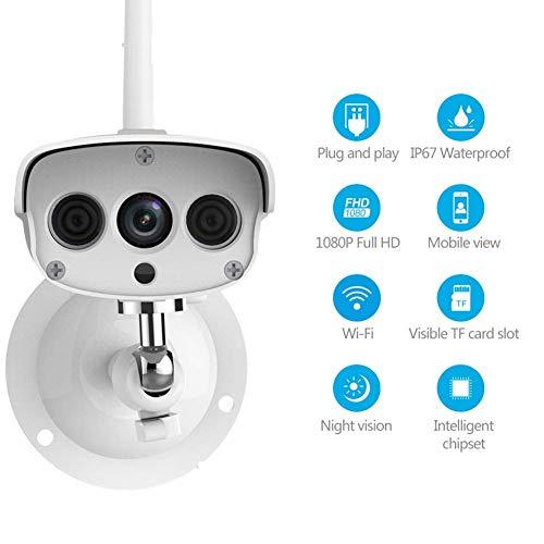 Z-Camera@ 1080P Wireless Outdoor-Überwachungskamera, Nachtsicht Funktion,Bewegungserkennung,iPhone/Android Allgemeine Gerät Kompatibel,Weiß,Model: C16S