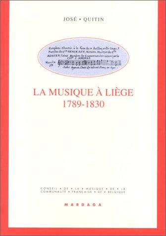 La musique à Liège, 1789-1830
