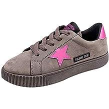 ZODOF Botas Exquisitas Zapatos de Punta Cuadrada de Color sólido para Mujeres Slip On Low Heel