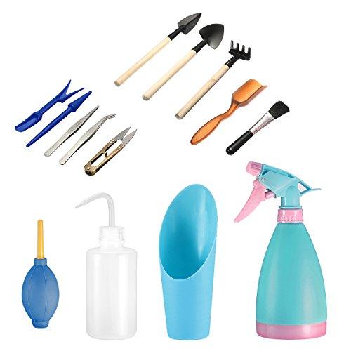 14Pcs Mini herramientas de mano de jardinería Pathonor Juegos herramientas  para jardinería mini rastrillo 34a596ccf02d