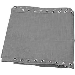 LOVIVER Tissu de Remplacement Tissu de Chaises Longue pour Fauteuil Chaise Transat de Jardin Fauteuil Relax Épais Outdoor Assise Charge Maxium 200kg - Gris