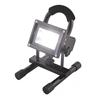10W LED Flood Light Cool White Lamp Landscape Outdoor Waterproof 120 Degree Beam Angle Security Floodlight Black